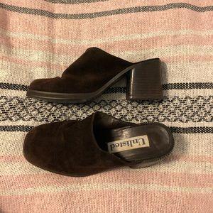 Vintage brown mules